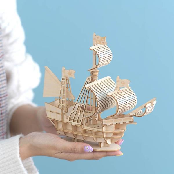 クラフト キット ハンドメイド 手作り  Wooden Art ki-gu-mi 帆船|beadsmania-shop|05