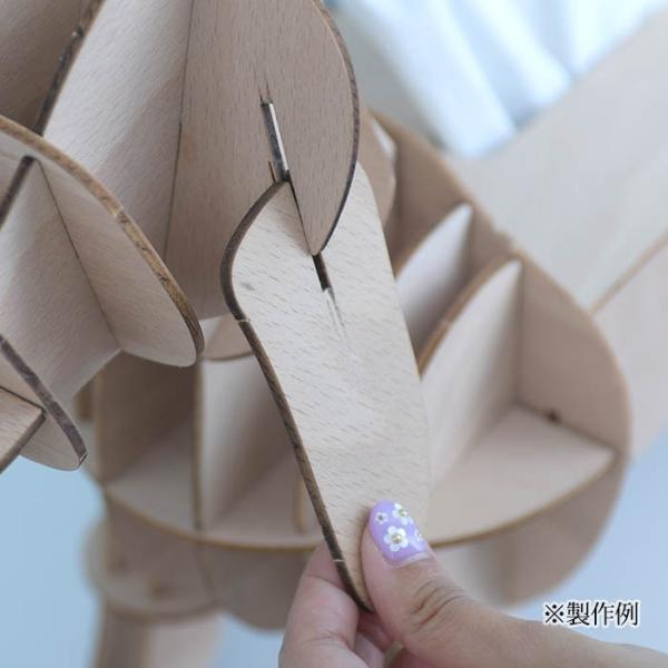 クラフト キット ハンドメイド 手作り  Wooden Art ki-gu-mi オルゴール付き メリーゴーランド|beadsmania-shop|07
