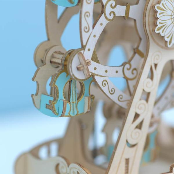 クラフト キット ハンドメイド 手作り  Wooden Art ki-gu-mi オルゴール付き 観覧車 beadsmania-shop 02