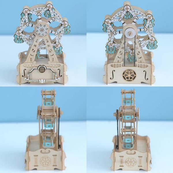 クラフト キット ハンドメイド 手作り  Wooden Art ki-gu-mi オルゴール付き 観覧車 beadsmania-shop 03
