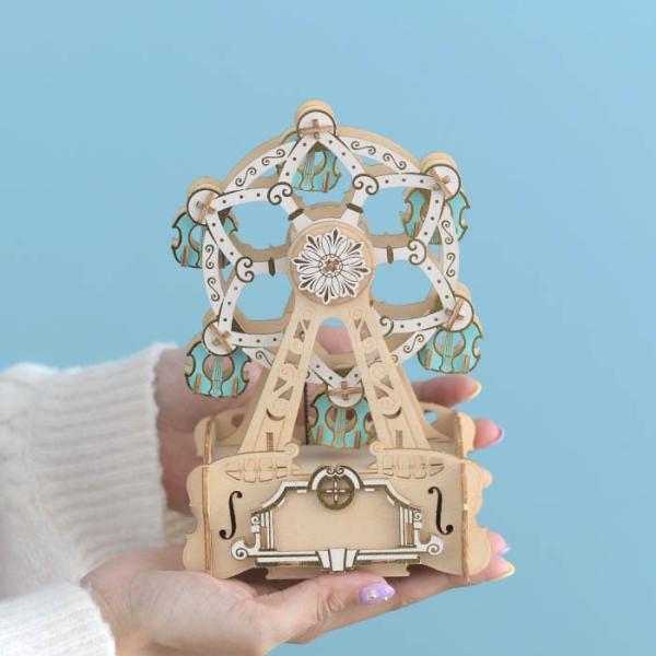 クラフト キット ハンドメイド 手作り  Wooden Art ki-gu-mi オルゴール付き 観覧車 beadsmania-shop 05
