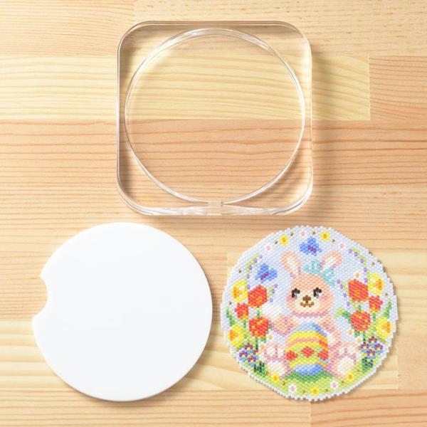 ビーズ キット ハンドメイド ステッチコースター〜Happy Easter〜 ビーズマニア|beadsmania-shop|03