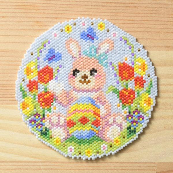 ビーズ キット ハンドメイド ステッチコースター〜Happy Easter〜 ビーズマニア|beadsmania-shop|04