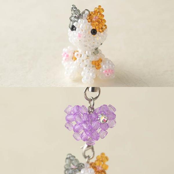 ビーズ キット ビーズキット ハンドメイド TOHO おすわり動物シリーズ ねこ|beadsmania-shop|02