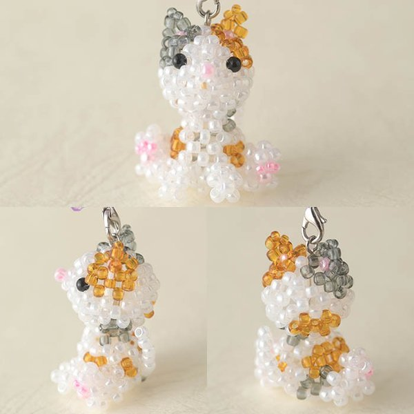 ビーズ キット ビーズキット ハンドメイド TOHO おすわり動物シリーズ ねこ|beadsmania-shop|03