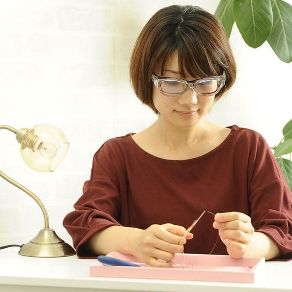 拡大鏡  眼鏡 ルーペ メガネ型ルーペ めがね 両手が使える高倍率拡大鏡(ブルーライトカット) 視力補正|beadsmania-shop|05