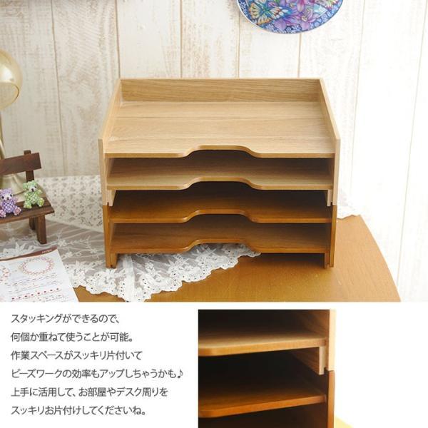卓上サイズ ビーズ収納 スタッキングできる収納トレー|beadsmania-shop|06