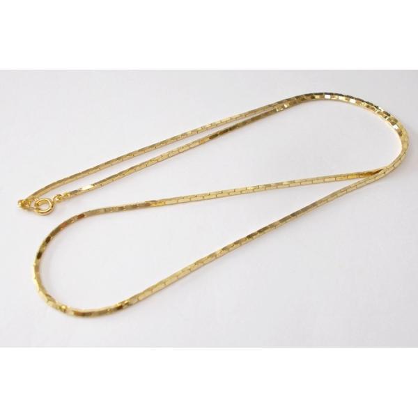 真鍮チェーンネックレス ゴールド(60CM+ヒキワ・ダルマカン)10本