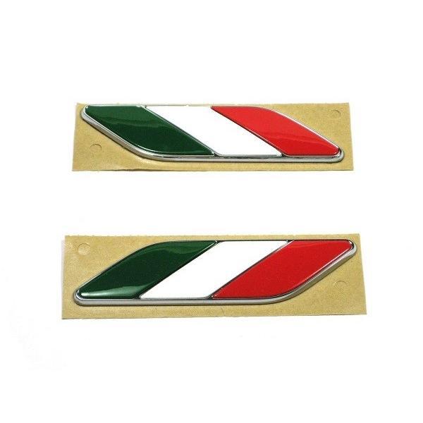 フィアット FIAT 500 イタリアフラッグエンブレム フェンダー 左右SET 純正 パーツ|bealre