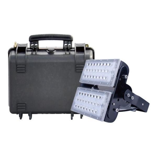 LED投光器 100W+充電式電源 充電式ポータブル投光器 防塵 防水 屋内 屋外両方可能 LED作業灯 ledライト 夜間作業灯 屋外 工事用ライト LECB100PB100|beamtec-forbusiness