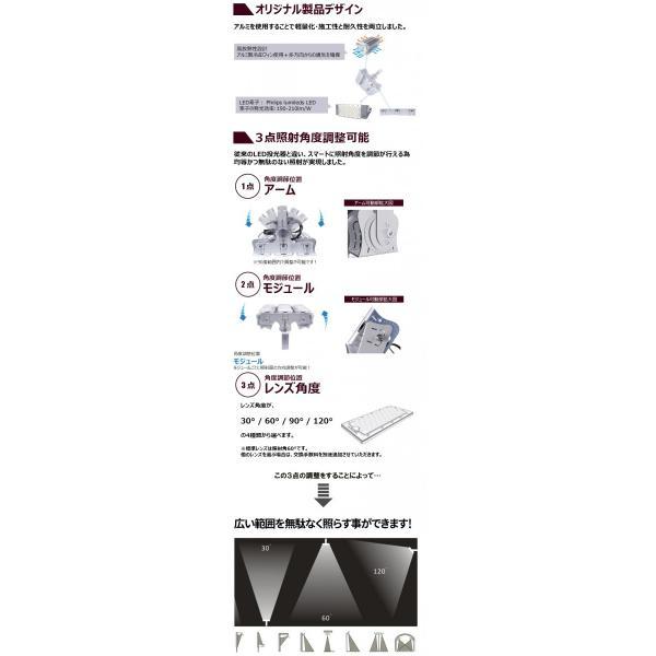 LED投光器 200W 投光器 LED 屋外 看板 駐車場 倉庫 工場 作業灯 防犯灯 LED高天井 照明器具 LEP200S ビームテック|beamtec-forbusiness|06
