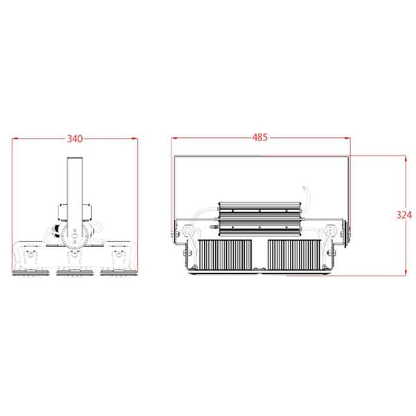 LED投光器 600W 投光器 LED 屋外 看板 駐車場 倉庫 工場 作業灯 防犯灯 LED高天井 照明器具 LEP600S ビームテック|beamtec-forbusiness|02