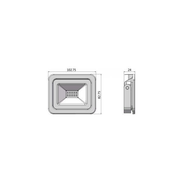 訳あり LED投光器 電球色 昼光色 黒 10W IP65 屋内 屋外 防塵 耐塵 防水 LEW010WK2  LEW010CK2 LEW0102 ビームテック|beamtec-forbusiness|02
