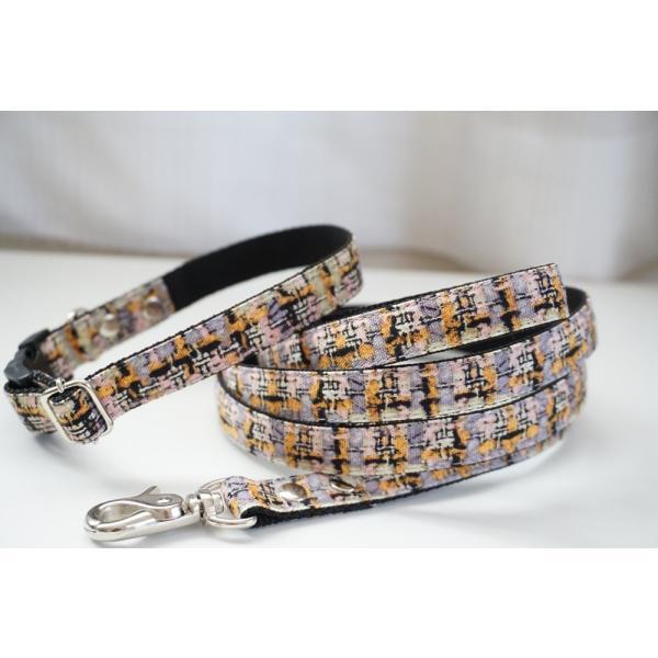 犬用首輪/ハーネス  フェイクツイード(全3色)  オーダーメイド品  小型犬  中型犬  子犬  (10mm/15mm/20mm幅)  チェック  猫の首輪 beans-factory 11