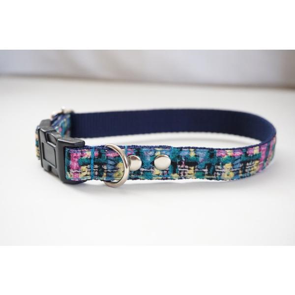 犬用首輪/ハーネス  フェイクツイード(全3色)  オーダーメイド品  小型犬  中型犬  子犬  (10mm/15mm/20mm幅)  チェック  猫の首輪 beans-factory 07