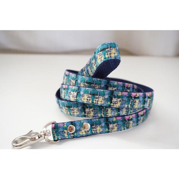 犬用リード  フェイクツイード(全3色)  オーダーメイド品  子犬  小型犬  中型犬(10mm/15mm/20mm幅)  チェック|beans-factory|05