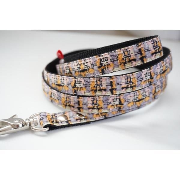 犬用リード  フェイクツイード(全3色)  オーダーメイド品  子犬  小型犬  中型犬(10mm/15mm/20mm幅)  チェック|beans-factory|07