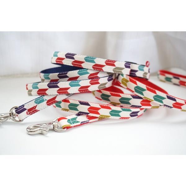 犬用リード  ハイカラさん(全2色)  オーダーメイド品  子犬  小型犬  中型犬  和柄  和調  矢絣|beans-factory|04