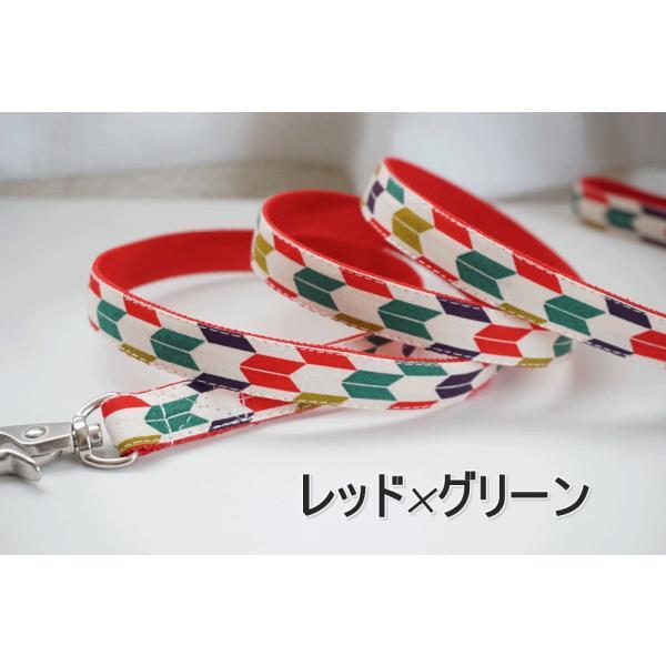 犬用リード  ハイカラさん(全2色)  オーダーメイド品  子犬  小型犬  中型犬  和柄  和調  矢絣|beans-factory|05