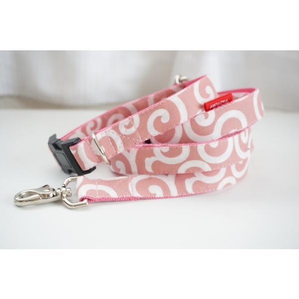 犬用リード  唐草ピンク(全1色)  オーダーメイド品  子犬  小型犬  中型犬  和柄  和調  唐草模様|beans-factory|04