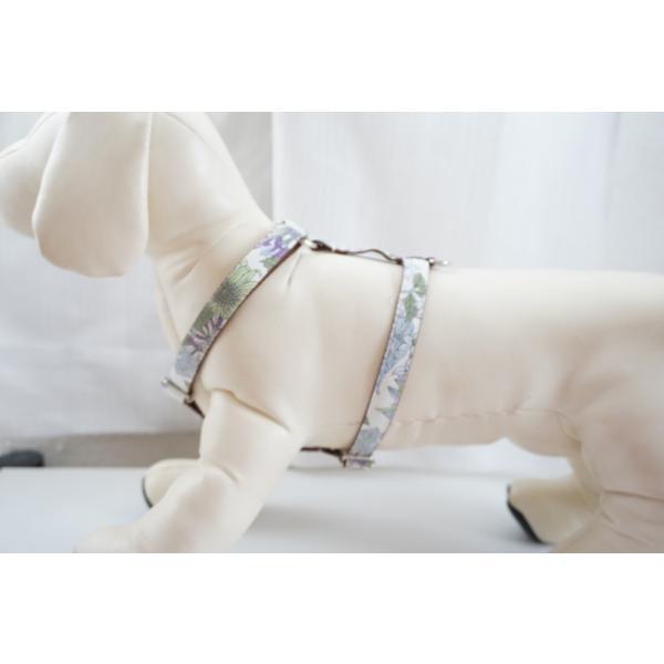 【オプション】首輪をダブルH型ハーネスに変更  犬用ハーネス  小型犬  中型犬  15mm/20mm幅  フルオーダーメイド|beans-factory|07