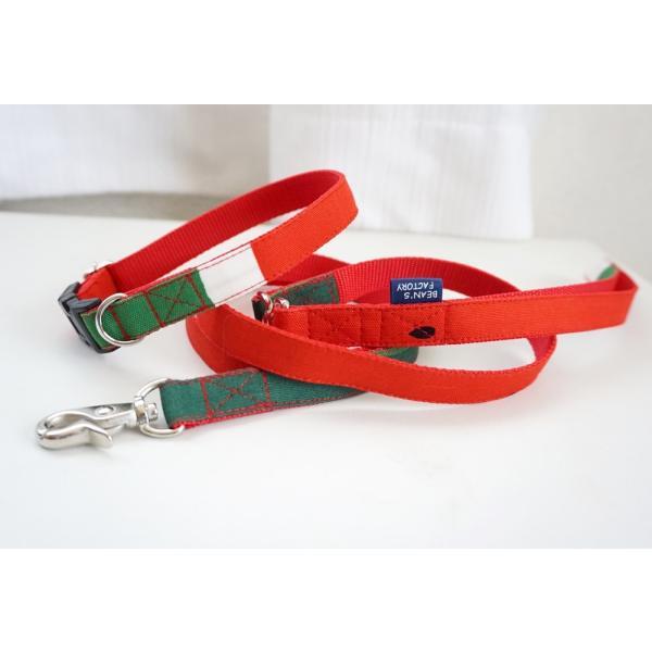 犬用リード  スイカ柄(全2色)  オーダーメイド品  15mm幅/20mm幅  子犬  小型犬  中型犬  すいか SUIKA フルーツ 果物|beans-factory|07