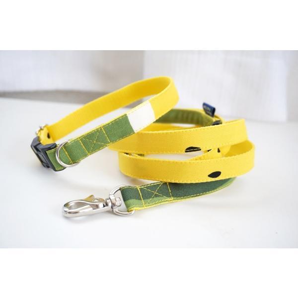 犬用リード  スイカ柄(全2色)  オーダーメイド品  15mm幅/20mm幅  子犬  小型犬  中型犬  すいか SUIKA フルーツ 果物|beans-factory|10