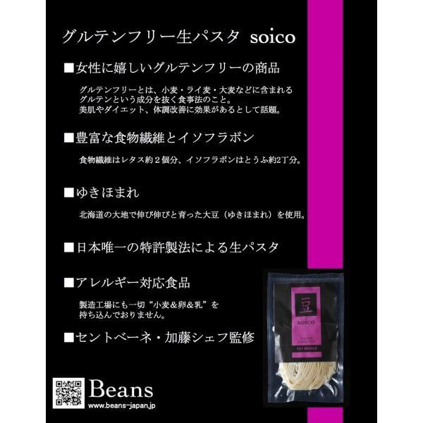 グルテンフリー パスタ 超時短ゆで時間30秒でOK soico SOY PASTA フェットチーネタイプ|beans-japan|03
