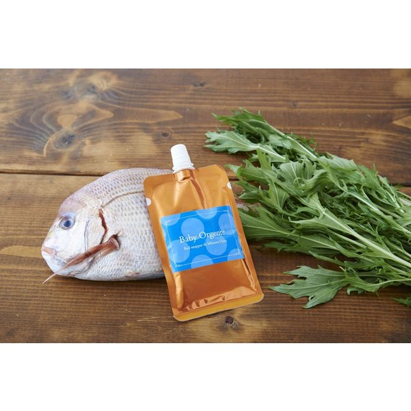 離乳食 無添加 ベビーフード オーガニック 有機無農薬 野菜 天然だし BabyOrgente 鯛と水菜おじやタイプ 1袋 beans-japan