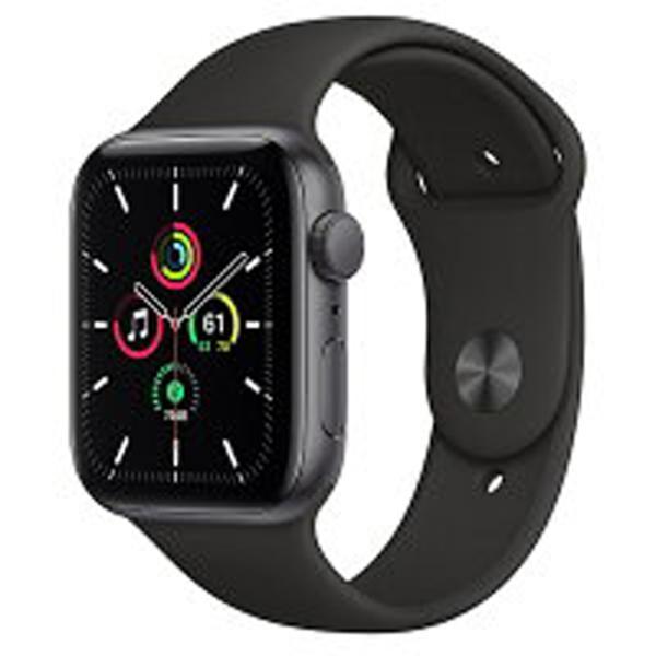 AppleWatchSE(GPSモデル)アップル-44mmスペースグレイアルミニウムケースとブラックスポーツバンドMYDT2J/