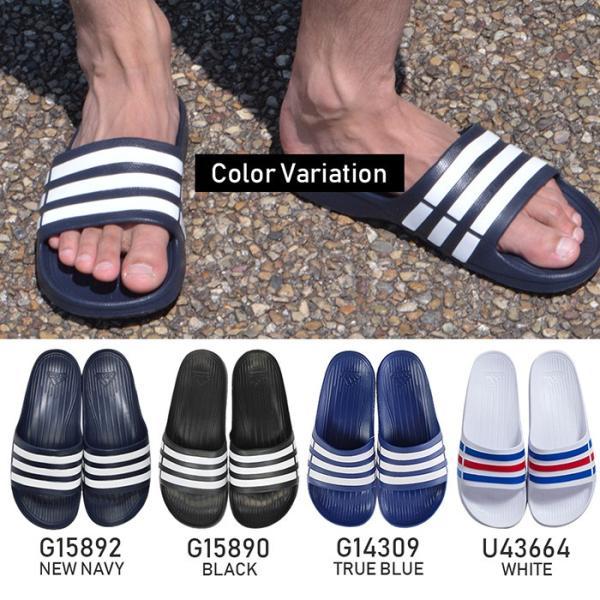 アディダス メンズ シャワーサンダル スポーツサンダル デュラモ スライド adidas DURAMO SLIDE G14309 G15890 G15892 U43664 bearfoot-shoes 02