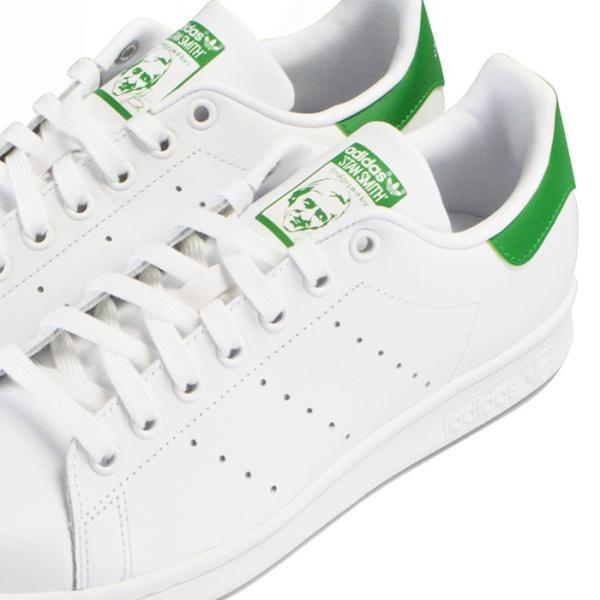 adidas STAN SMITH アディダス メンズ レディース スタンスミス スニーカー M20324 ホワイト グリーン|bearfoot-shoes|06
