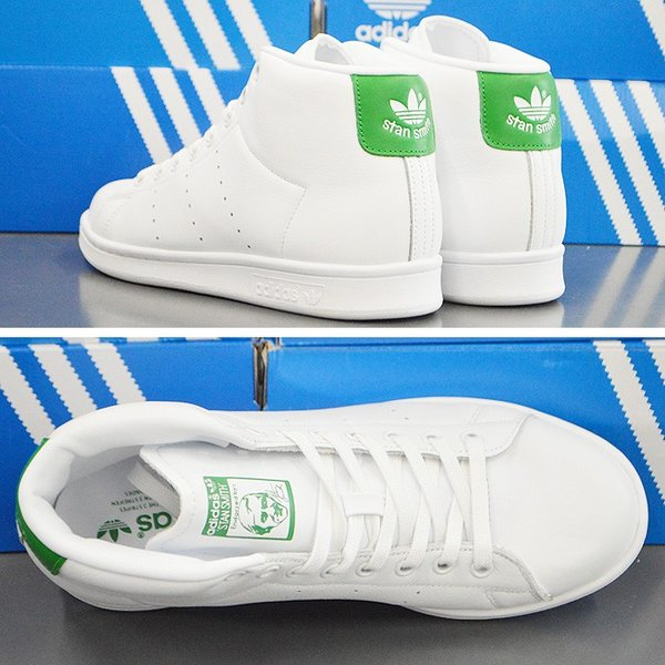 アディダス スタンスミス ミッドカット スニーカー adidas STAN SMITH MID BB0069 靴 シューズ ホワイト×グリーン アディダス スタンスミス|bearfoot-shoes|03