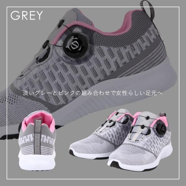 ダイヤル式シューズ レディース フライニット スニーカー 靴 スポーツ|bearfoot-shoes|12