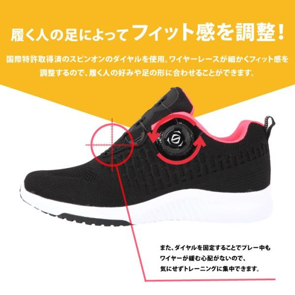 ダイヤル式シューズ レディース フライニット スニーカー 靴 スポーツ|bearfoot-shoes|06