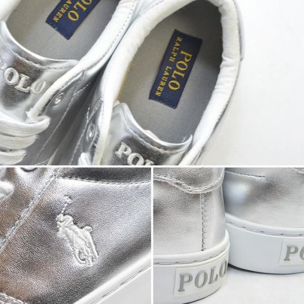 ポロ ラルフローレン レディース スニーカー POLO RALPH LAUREN EDGEWOOD 婦人 女性 メタリック シューズ カジュアル スポーツ 白 bearfoot-shoes 05