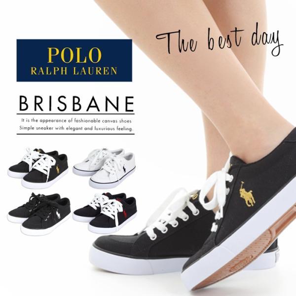 ポロ・ラルフローレン レディース スニーカー 靴 シューズ POLO RALPH LAUREN BRISBANE ポロ ラルフローレン キャンバス ローカット 白 黒 ブリスベン|bearfoot-shoes