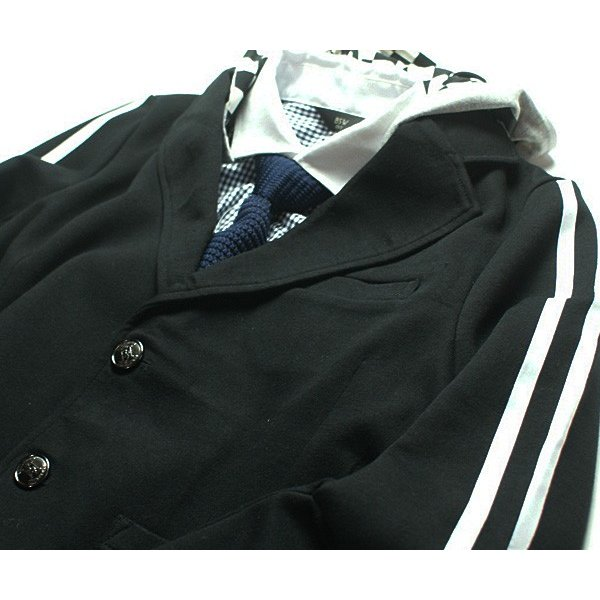 71befe52659aa ... 卒業式 スーツ 男の子 ジャケット フード 2WAY ブレザー 140cm 150cm 160cm 170cm|beatpops| ...