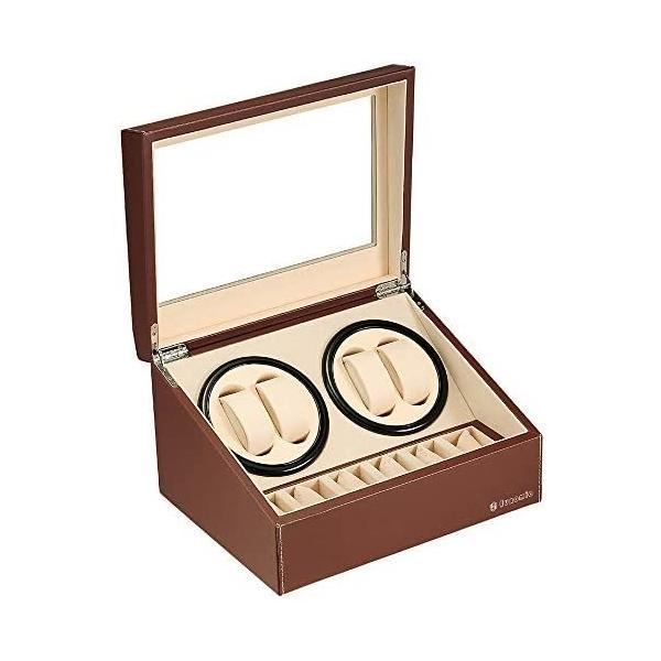 令和最新版 ワインディングマシーン(4本巻き+6本収納)ウォッチワインダー自動巻き時計ワインディングマシーン日本製