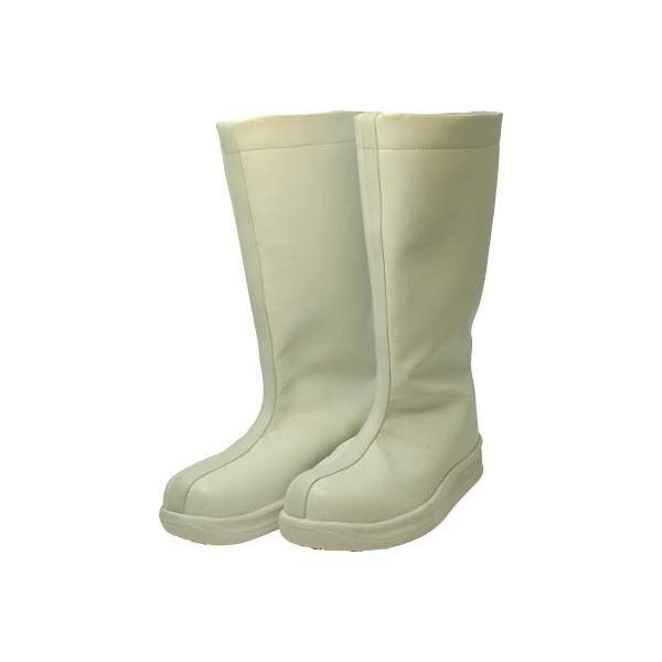 日進ゴム 厨房シューズ #5400 23.5cm 白 厨房長靴 ロングタイプ ハイパーVソール搭載 HyperV