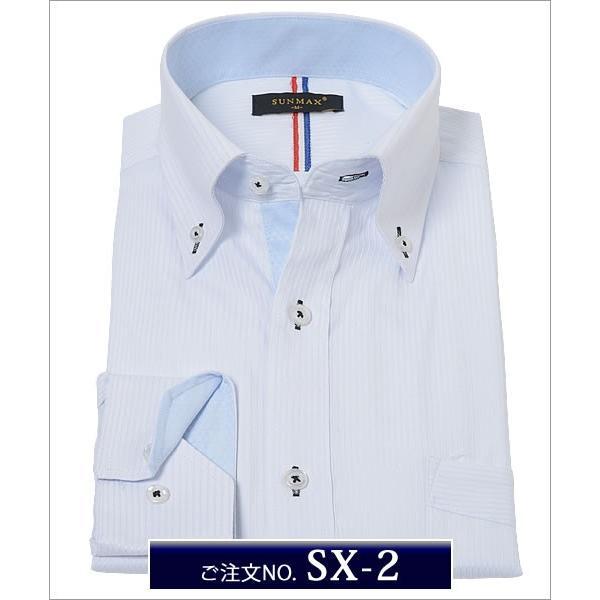 メンズ ワイシャツ 通販 スリム s - 3l 大きいサイズ 安い ドレスシャツ ビジネス ボタンダウン カッターシャツ おしゃれ 長袖  /ysh-1005|beauty-ex|03