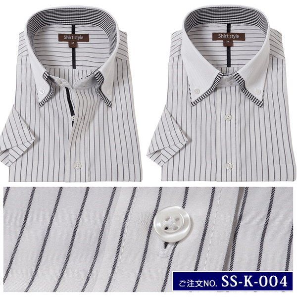 ワイシャツ 半袖 メンズ オシャレ クレリックシャツ 半袖 メンズ クレリック 半袖 ストライプ ビジネス|beauty-ex|13