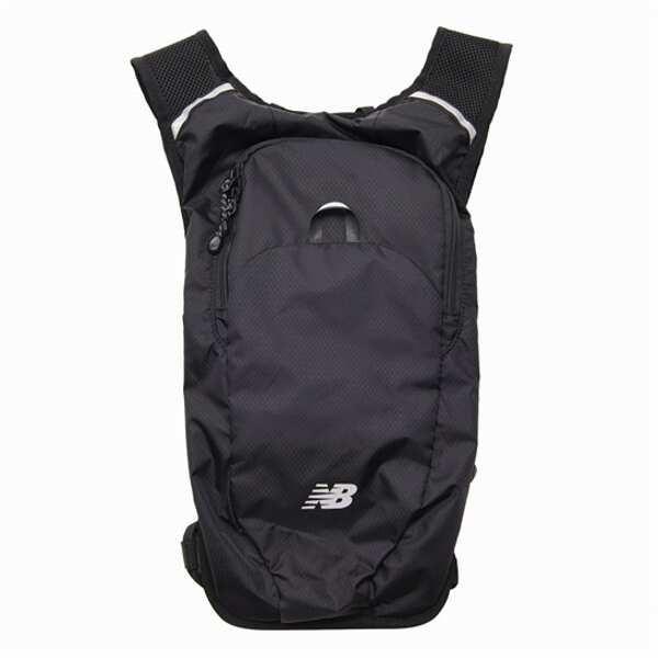 ニューバランスNEWBALANCEランニングバックパック5L カラー:ブラック  サイズ:W20×D6×H42cm(5L) #J