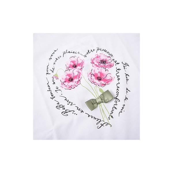 子供服 BEBE ベベ アウトレット 女の子 半袖 Tシャツ BeBe 袖 3段フリル ポピープリント 半袖Tシャツ ネット・アウトレット限定 ゆうパケット対応 B-4 1650|bebe-shop|05