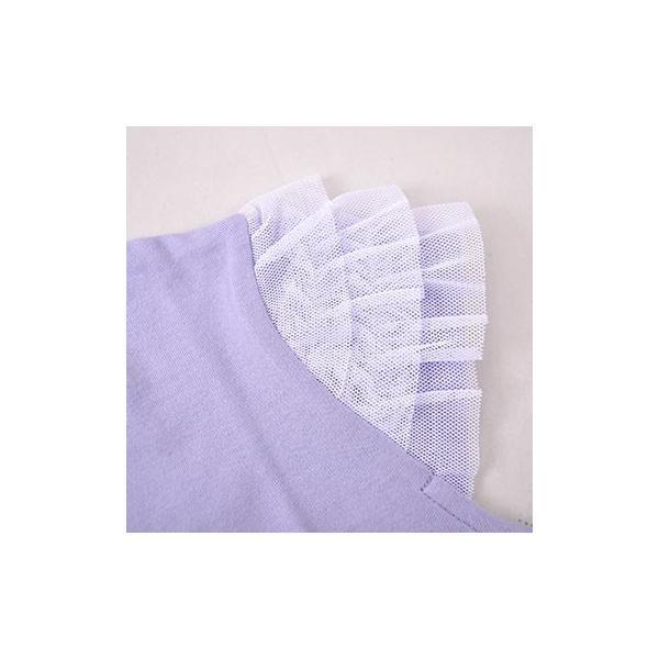 子供服 BEBE ベベ アウトレット 女の子 半袖 Tシャツ BeBe 袖 3段フリル ポピープリント 半袖Tシャツ ネット・アウトレット限定 ゆうパケット対応 B-4 1650|bebe-shop|07