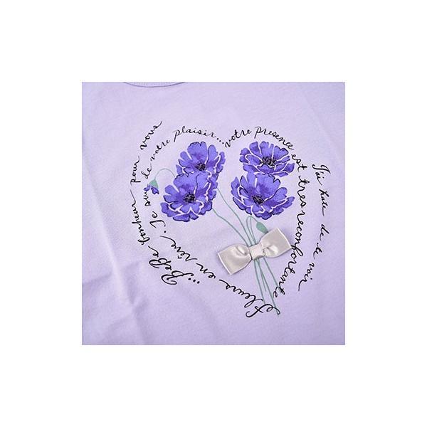子供服 BEBE ベベ アウトレット 女の子 半袖 Tシャツ BeBe 袖 3段フリル ポピープリント 半袖Tシャツ ネット・アウトレット限定 ゆうパケット対応 B-4 1650|bebe-shop|08