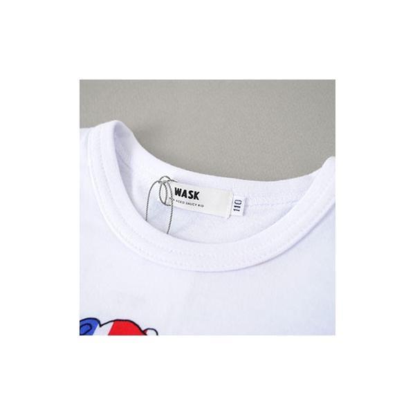 子供服 BEBE ベベ アウトレット 男の子 半袖Tシャツ WASK ワスク 天竺 アニマル ユニオンジャック 半袖Tシャツ ゆうパケット対応 B-3 2205|bebe-shop|06