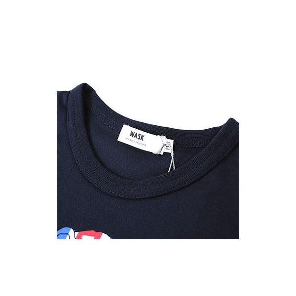 子供服 BEBE ベベ アウトレット 男の子 半袖Tシャツ WASK ワスク 天竺 アニマル ユニオンジャック 半袖Tシャツ ゆうパケット対応 B-3 2205|bebe-shop|08
