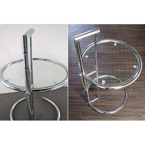 パール サイドテーブル ガラステーブル アイリーングレイ デザイナーズ リプロダクト E1027 4段階調節 モダン|bebeimport|02