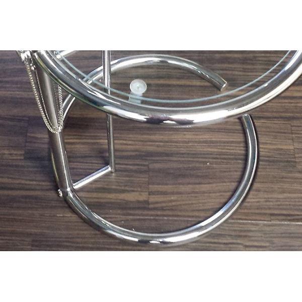 パール サイドテーブル ガラステーブル アイリーングレイ デザイナーズ リプロダクト E1027 4段階調節 モダン|bebeimport|03